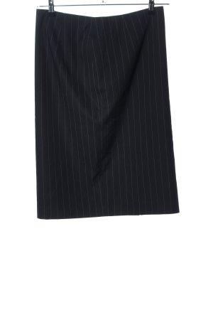 Savannah Bleistiftrock schwarz Streifenmuster Casual-Look