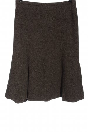 Savannah Wool Skirt brown flecked casual look