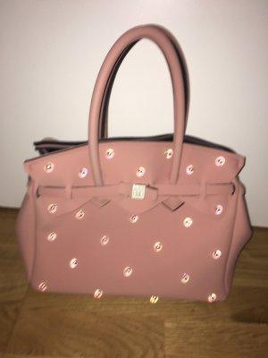 Save my bag Torba shopper w kolorze różowego złota