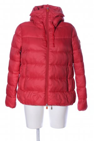 SAVE THE DUCK Donsjack rood quilten patroon casual uitstraling