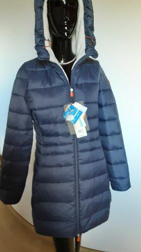 SAVE THE DUCK Pikowany płaszcz biały-ciemnoniebieski