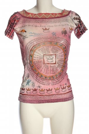 Save the Queen Carmen shirt grafisch patroon casual uitstraling