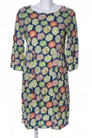 Savile Row Company Kurzarmkleid Blumenmuster Casual-Look