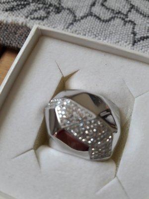 Swarovski Anillo de plata color plata