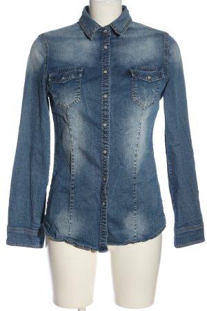Saxx Jeansowa koszula niebieski W stylu casual