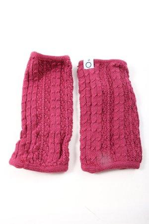 scandic Ocieplacz na nogi różowy Warkoczowy wzór W stylu casual