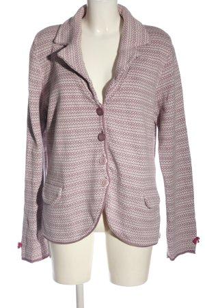 scandic way of life Cardigan tricotés violet-blanc style décontracté