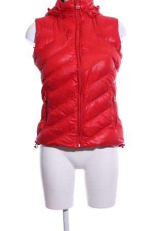Scapa Gilet à capuche rouge motif de courtepointe style décontracté