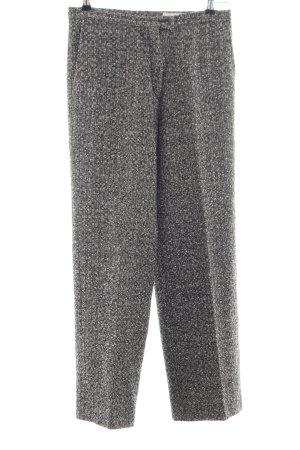 Pantalone di lana nero-bianco puntinato stile professionale
