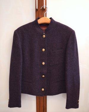 Scarabäus Jacke, Trachtenjacke, 50% Wolle, 50% Alpaka, lila, neuwertig
