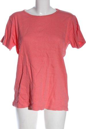 scarell Camisa acanalada rosa look casual