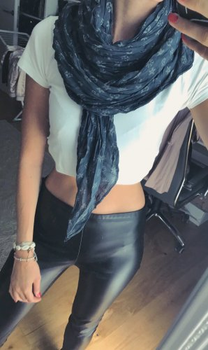 Scarf LouisVuittion-Style blogger blue