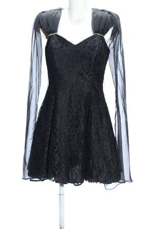 Scarlett Nite A-Linien Kleid schwarz Blumenmuster Elegant