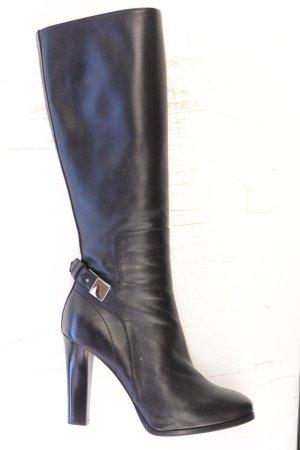 SCAROSSO High-Heel Stiefel Größe 38 neuwertig schwarz aus Leder