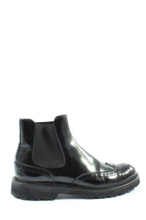 Scarosso Wciągane buty za kostkę czarny W stylu casual