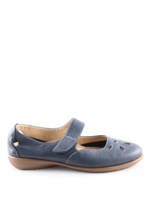 Scarpio Riemchen Ballerinas blau Elegant