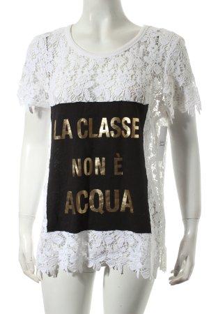 SCEE Shirt Schriftzug gedruckt extravaganter Stil