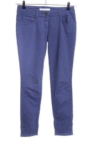 Scervino Street Röhrenhose blau Animalmuster Casual-Look