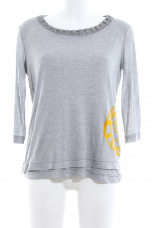 Scervino Street Crewneck Sweater light grey-light orange flecked casual look