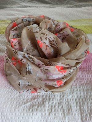 Bufanda tubo crema-salmón