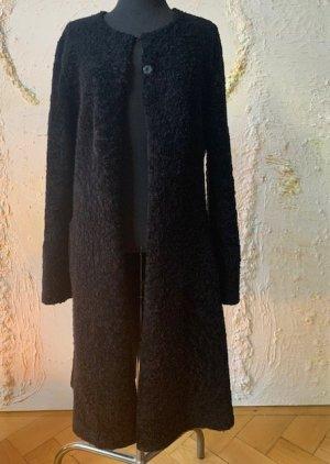 Schacky & Jones Futrzany płaszcz czarny-antracyt Futro