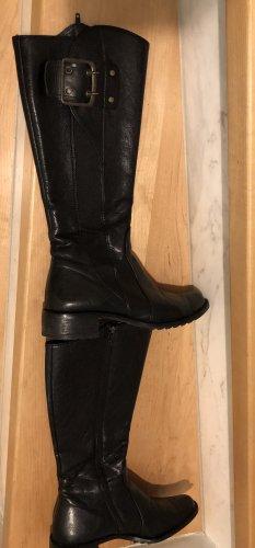 Paul Green Bottes à l'écuyère noir cuir