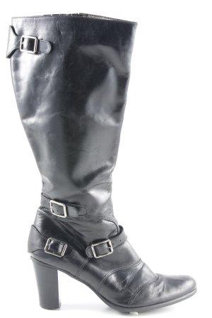 Schaftstiefel schwarz Casual-Look