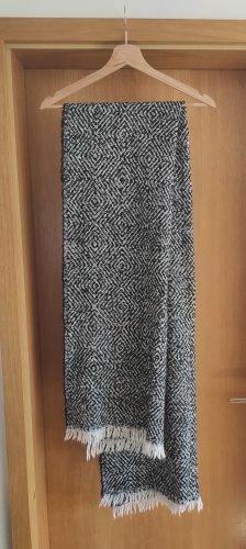 Écharpe en tricot blanc-noir