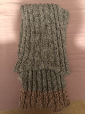 Hollister Knitted Scarf rose-gold-coloured-light grey