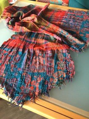Sciarpa con frange multicolore