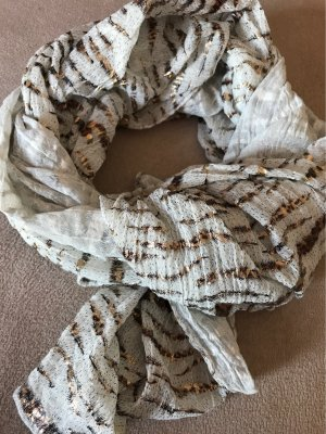 0039 Italy Summer Scarf natural white-light brown cotton