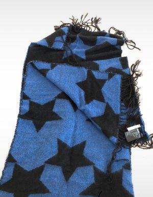 H&M Bufanda de lana negro-azul
