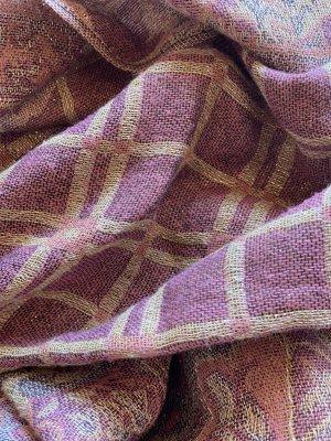 H&M Bufanda de flecos color rosa dorado