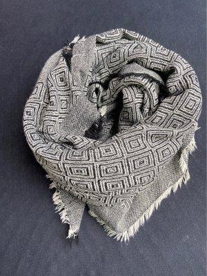 Unbekannte Marke Woolen Scarf black-white