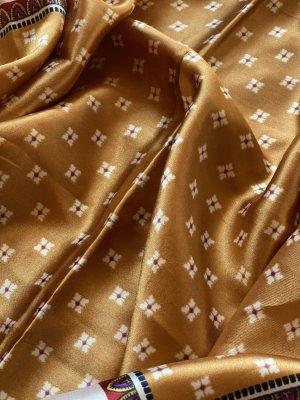 H&M Sciarpa di seta bianco sporco-bronzo