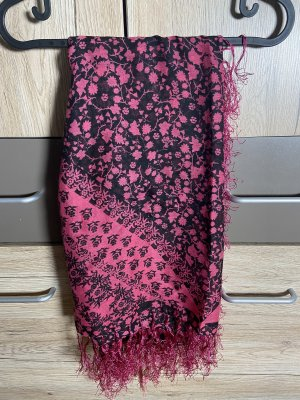 H&M Divided Pashmina raspberry-red-black