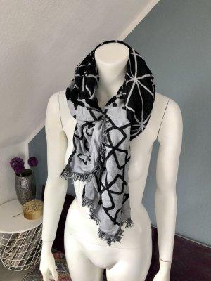 Devided von H&M Bufanda de punto negro-gris