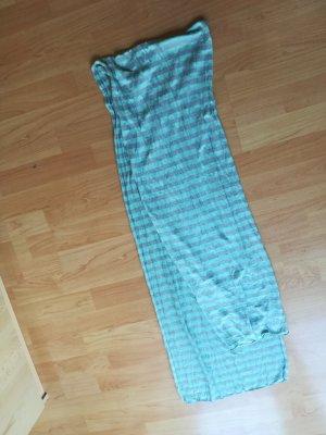 Écharpe d'été bleu clair-blanc