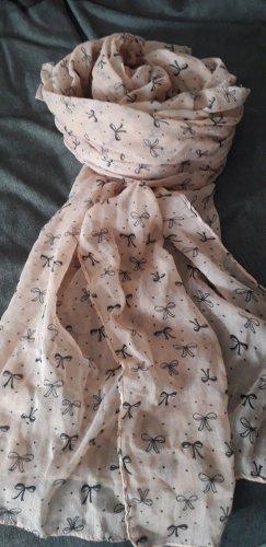 Bufanda arrugada negro-rosa empolvado