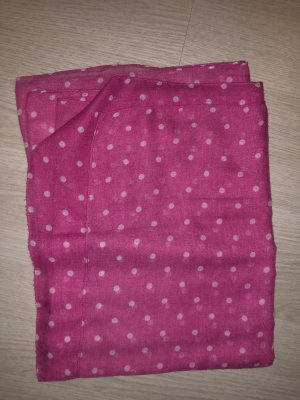Sciarpa estiva bianco-rosa