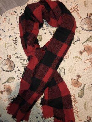 Takko Fashion Wollen sjaal rood-zwart