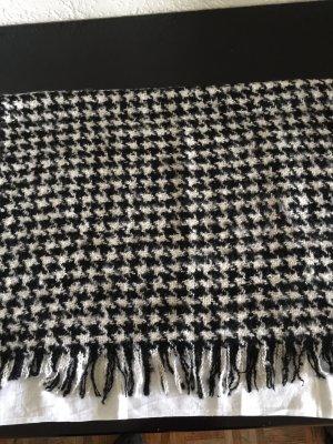 Hallhuber Gebreide sjaal zwart-wit