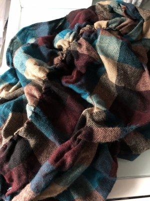s.Oliver Écharpe en laine brun-bleu pétrole