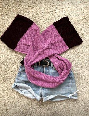 Sciarpa di lana rosa-rosso mora