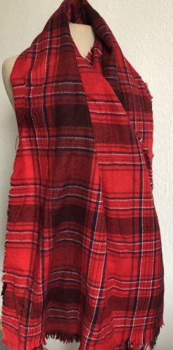 Only Écharpe en laine noir-rouge