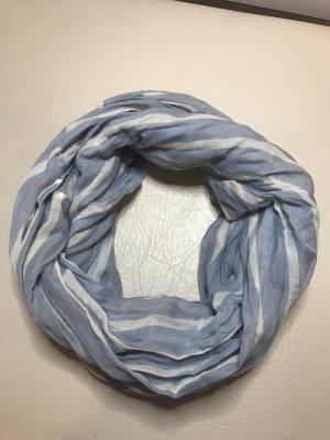 Pieces Scaldacollo azzurro-bianco