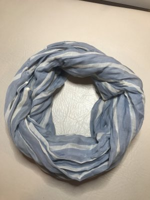 Pieces Écharpe tube bleu azur-blanc