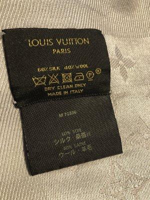 Louis Vuitton Foulard en soie argenté