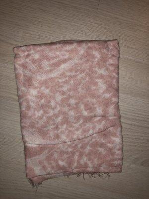 Sciarpa estiva bianco-rosa pallido