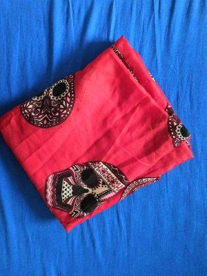 H&M Chal veraniego negro-rojo